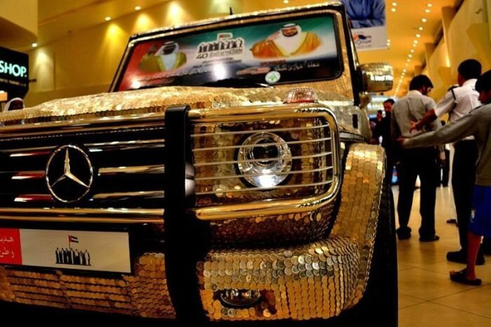 Car Covered with 55,000 Coins