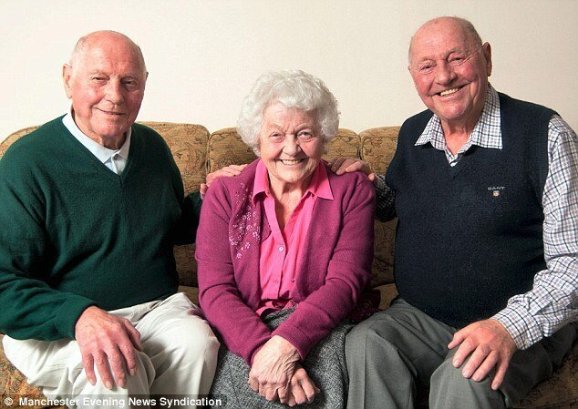 Oldest Triplets, Now and Then, 80 Years Later