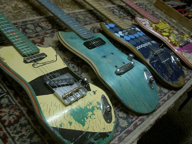 Guitars Built From Used Skateboards