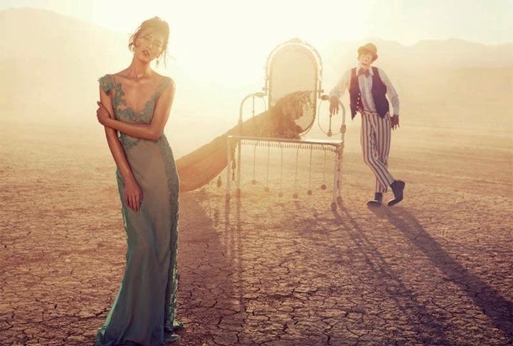 Gorgeous Liu Wen Joins the Circus for Vogue Australia