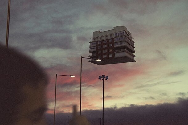 Floating Houses: Spooky Levitation Photography- Rafa Zubiria