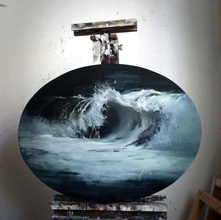 Gorgeous Oil Paintings of Breaking Waves By Kim Cogan