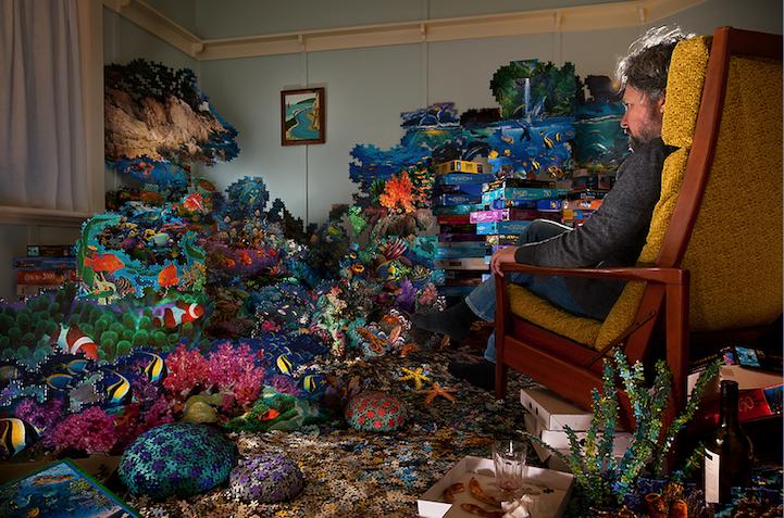 Artist Builds Fascinating Surreal Landscapes Inside the Home