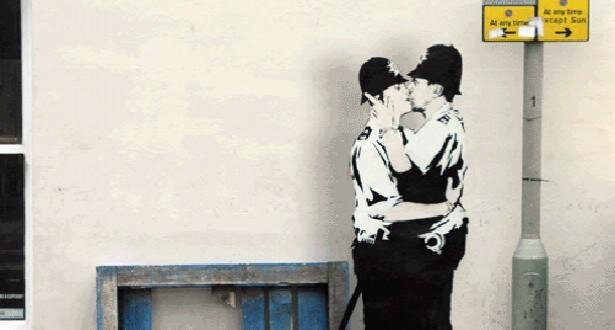 Amazing GIFs of Banksy's Works от Marinara за 25 mar 2013