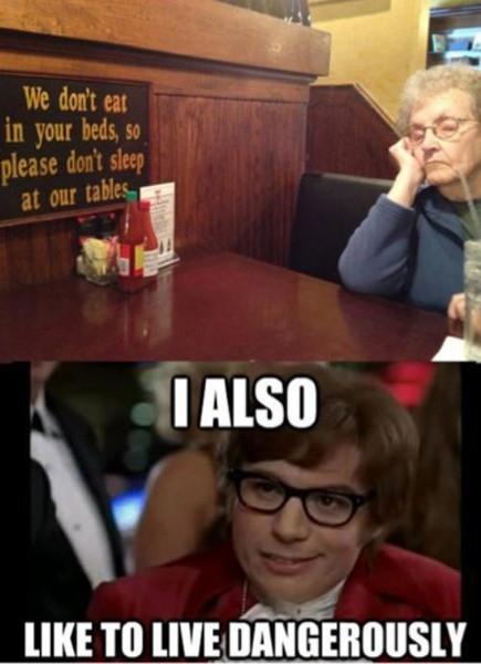 I Also Like To Live Dangerously Meme, Austin Powers
