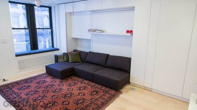 Tiny Transforming Apartment Packs Eight Rooms Into 32sqm