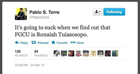 Best Joke Tweets about Florida Gulf Coast Rocking The NCAA Tournament