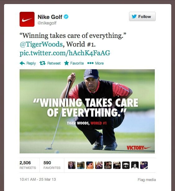 Nike Says Cheating Is OK Because Winning Solves Everything, Ask Tiger Woods