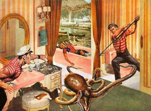 Funny Vintage Furniture Catalogs Overrun By Monsters