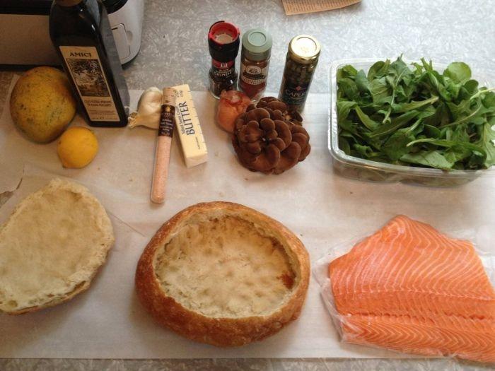 Salmon Shooter Sandwich, Delicious