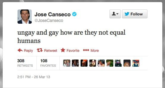 Jose Canseco Solves The Gay Marriage Debate