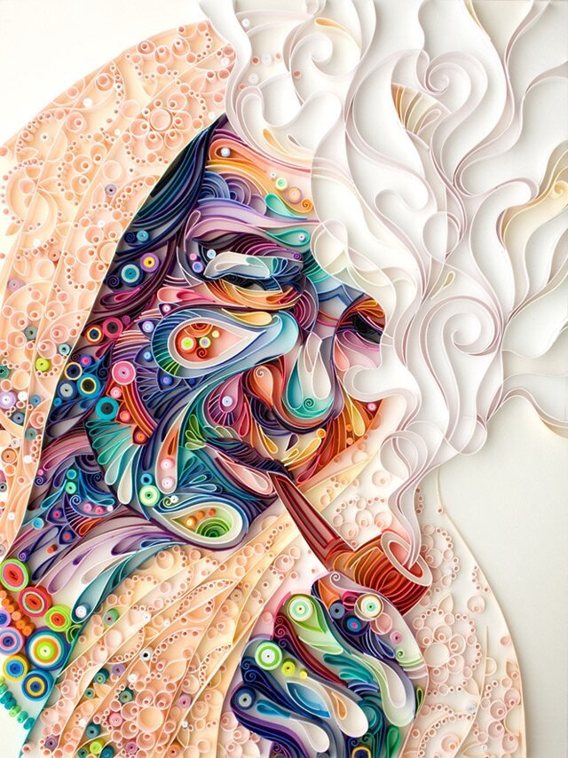 Intricate Art Designs Formed with Strips of Paper By Yulia Brodskaya