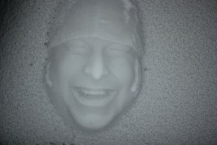 Fun Face Prints In Snow