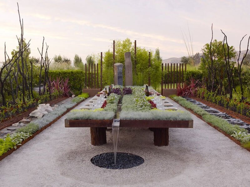 Outdoor Living Garden Table By Suzanne Biaggi