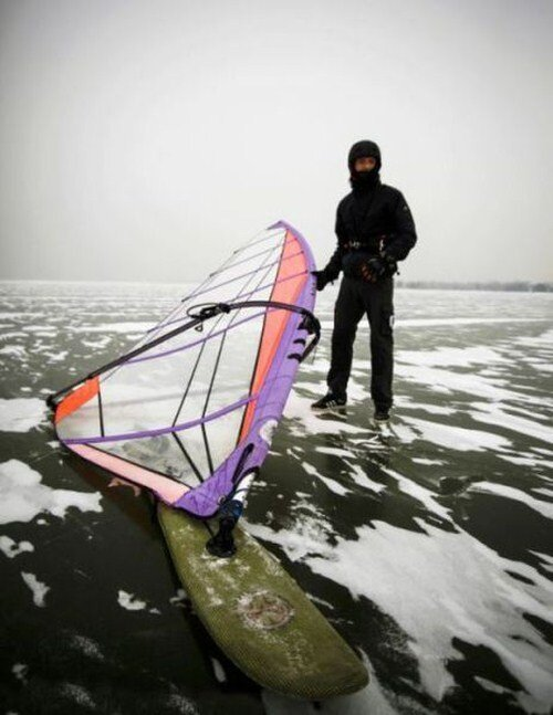 Taking Windsurfing to the Next Level- Ice Surfing