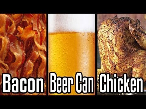 Best Man Meal Ever? Yes! Bacon Beer Can Chicken