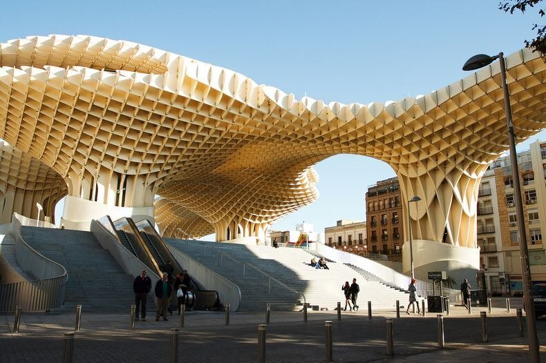 Metropol Parasol: The World's Largest Wooden Structure Created By Jürgen Mayer-Hermann