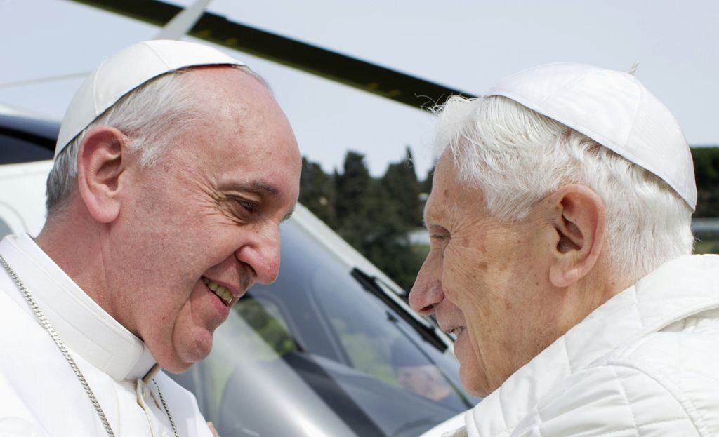 Historic Meeting Pope Francis And Pope Benedict XVI
