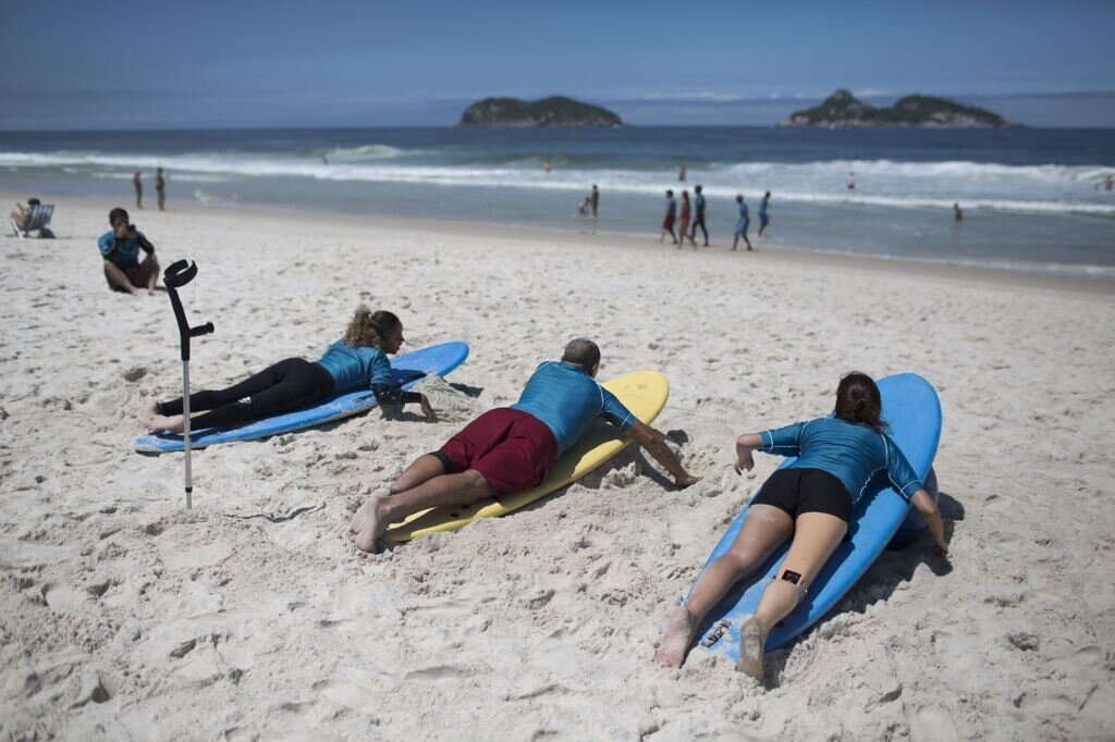 Disabled Surfers Brave The Waves In Rio