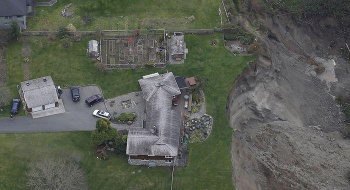 Huge Washington Whidbey Island Landslide