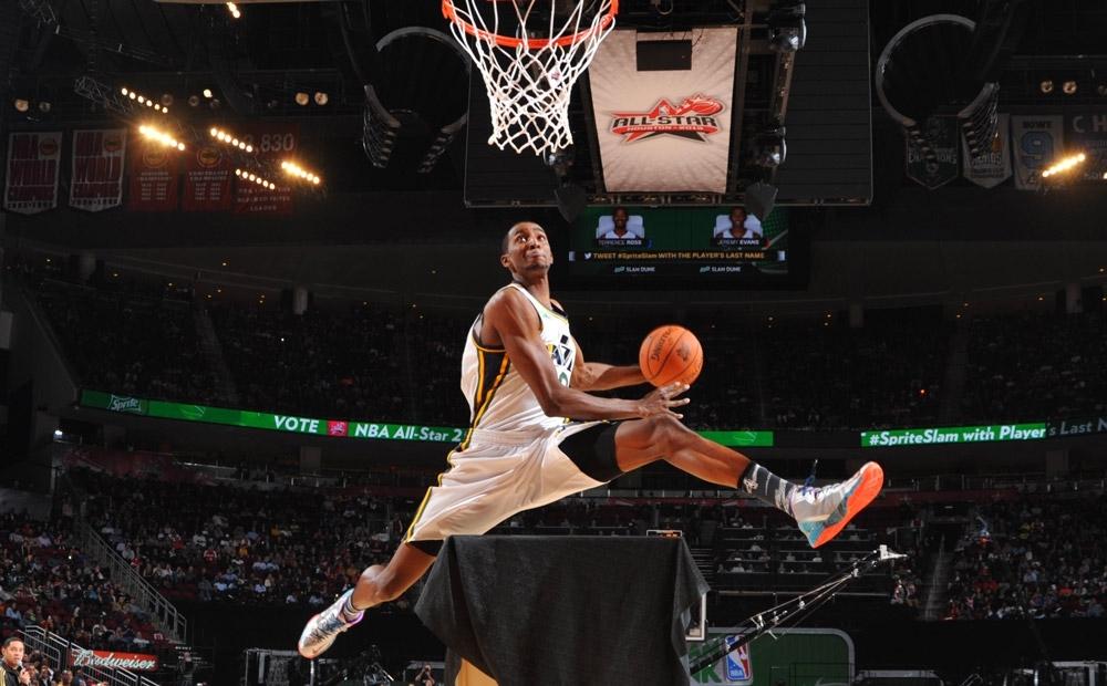 Utah Jazz Player Jeremy Evans Monster Alley-Opp Dunk