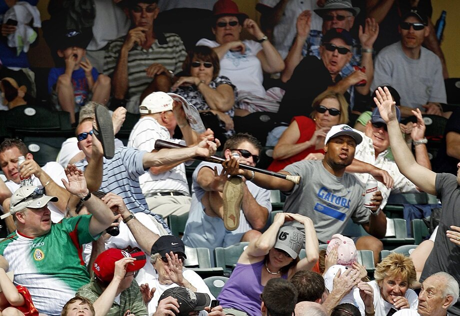 How To Handle A Baseball Bat Flying Into The Stands