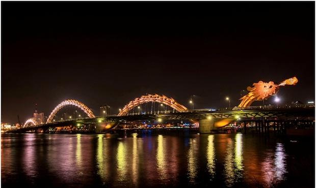 New Fire-Breathing Dragon Bridge Opens in Vietnam
