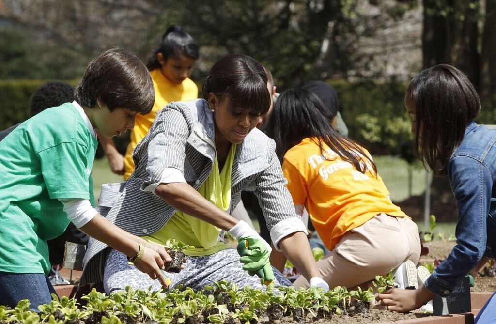Michelle Obama Spent The Day Planting The White House Garden