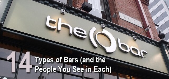 14 Types Of Bars To Drink At