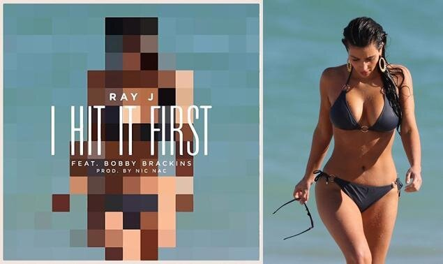 Kim K's Ex - Ray J, taunts Kanye West in New Track 'I Hit it First'
