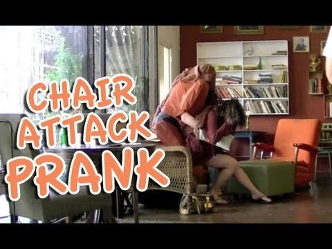 Man Pulls Off Flawless Human Chair Prank