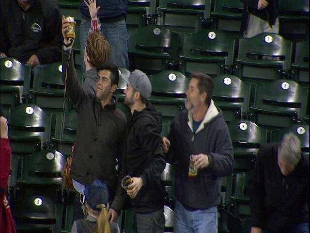 Fan Catches Baseball in Beer Then Drinks It During Seattle Mariners Game
