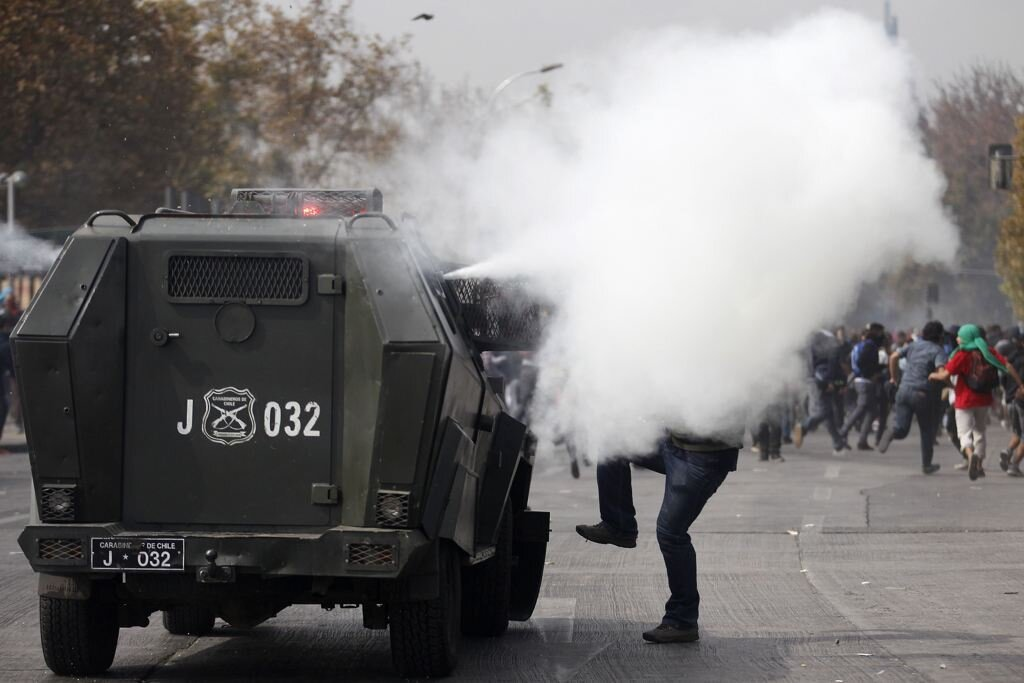 Violent Student Protests Rock Chile