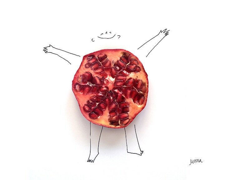 Whimsical Designs Blend Cute Illustrations with Food