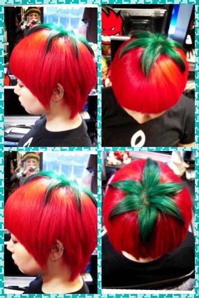 "Japan's Eccentric ""Ripe Tomato"" Hairstyle"