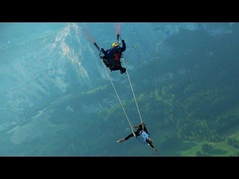 Incredible Paragliding Trapeze Artist Roxane Giliard (Video)