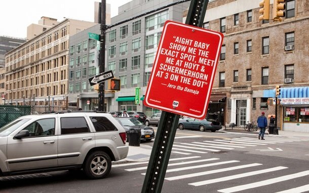 Famous Rap Lyrics Quoted On NYC Street Corners