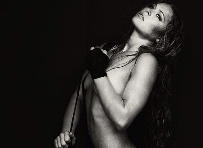 Ronda Rousey Posed Semi-Naked For Maxim's Hot 100