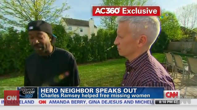 Anderson Cooper Interviews Charles Ramsey, and Is Awesome at it.