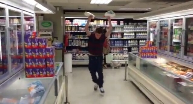 Gallon Smashing Prankster Gets What He Deserves