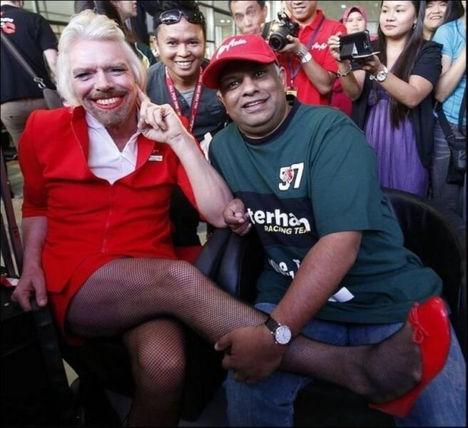 Richard Branson lost a bet