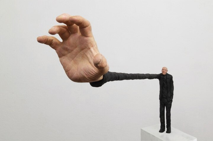 Tiny Human Sculptures with Immensly Exaggerated Features