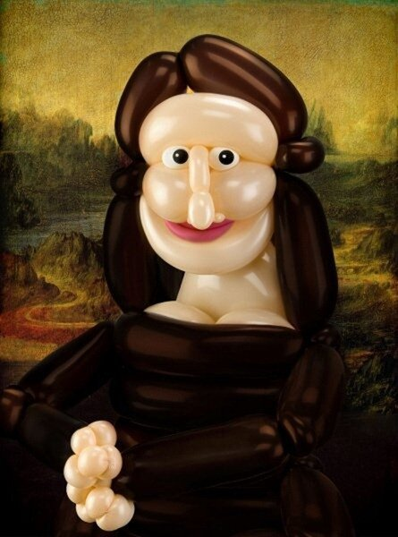 Famous Paintings Recreated in Balloons