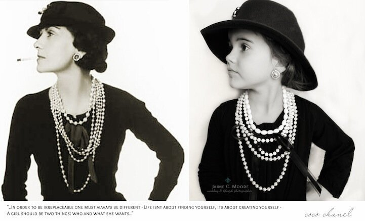 Little Girl Poses as Influential Women Throughout History