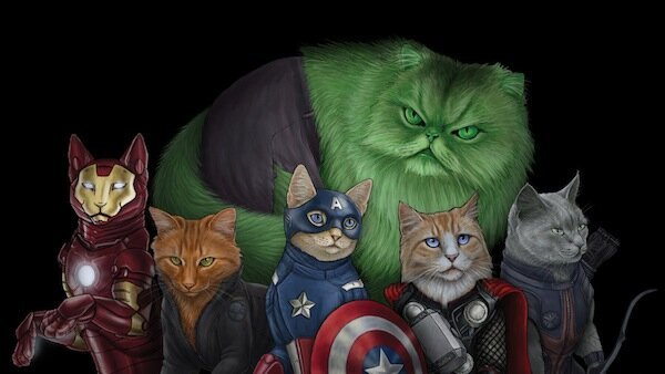 The Avengers And Daryl Dixon Are Even Cooler As Cats