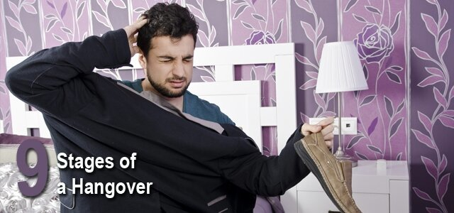 The 9 Stages Of A Hangover