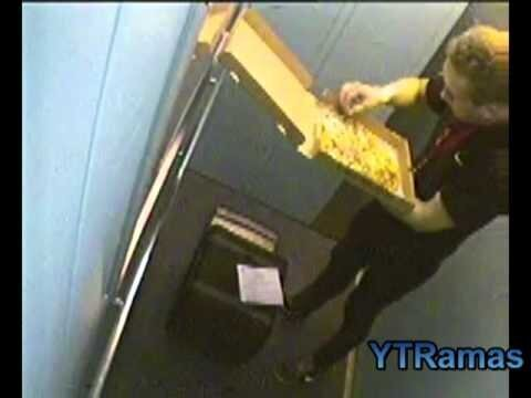 Hungry Delivery Man Caught Eating Customer's Pizza