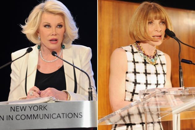 Joan Rivers Tells Anna Wintour to Stick a Broom In a Very Dark Place