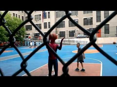 'The Amazing Spider-Man' Andrew Garfield Gets on the Court with Kids