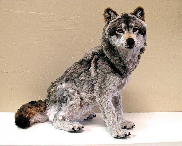 Pipe-cleaner sculptures of wild animals